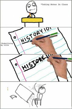 Taking notes in class