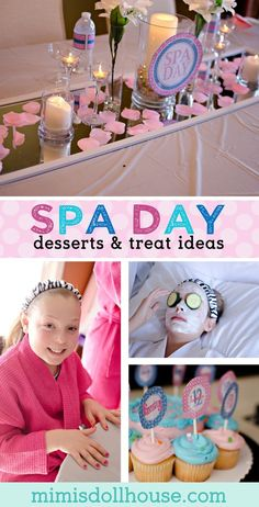 Spa Party: Isabella's Day Spa. Let's get pampered and party with some spa day party ideas! Be sure to check out all of our Pool Party Ideas as well as all our Party Ideas for girls. via @mimisdollhouse