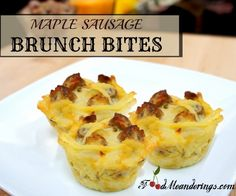 Make this award winning Potatoes Romanoff inspired breakfast dish with hashbrowns, sour cream, cheese, onions and maple sausages.