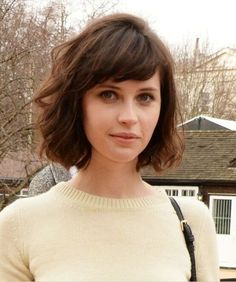 Formal Bob Haircut with Side Bangs