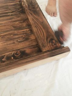 DIY Farmhouse Headboard - Haus of Layne Diy King Size Headboard, Wood Headboard, Headboards For Beds, Headboard Ideas, Panel Headboard, Bedroom Ideas, Diy Bed Frame, Bed Frames, Diy Nightstand