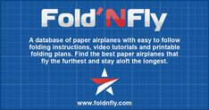 A database of paper airplanes with easy to follow folding instructions, video tutorials and printable folding plans. Find the best paper airplanes that fly the furthest and stay aloft the longest. Paper Airplane Game, Paper Airplane Folding, Airplane Flying, Paper Airplanes Instructions, Fly Paper, Kite Making, Occupational Therapy Activities, Computational Thinking, Origami Paper