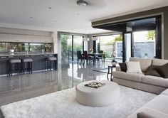 Metricon Glendale 38 Open Plan Kitchen Dining Living, Open Plan Living, Living Room Modern, Living Room Designs, Casa Loft, Modern Kitchen Design, Elegant Homes, House Rooms, Home Interior Design
