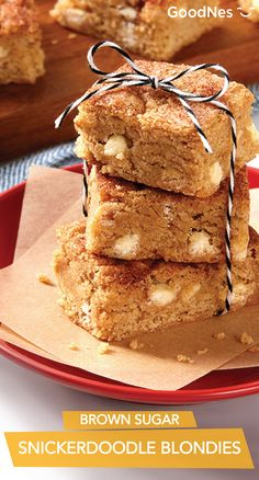 Making 36 bars in one batch, Brown Sugar Snickerdoodle Blondies are the perfect sweet treat to make for your next holiday work party. Your coworkers will enjoy biting into this soft and chewy dessert while also socializing with one another.