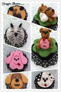 Doggie cupcakes by ...Cake it with Barbara <3