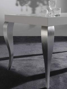 Modern wooden table curved legs Timoteo | milanomondo
