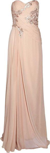 Pleated Silk-chiffon Gown - Lyst