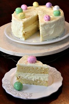Meyer lemon cheesecake cake