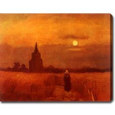 YGC Vincent van Gogh 'The Old Cemetery-Tower in Nuenen' Oil on Art