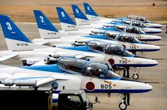Blue Impulse, Japanese aerobatic team.