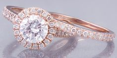 EGL USA H-VS2 14k Rose Gold Rond Cut Diamond Engegement Ring And Band 1.65ctw #ASW #Engagement