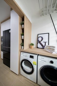 Home Design: 6 Spots You Tend To Overlook When Designing Your H. Laundry Room Wall Decor, Laundry Room Organization, Laundry Room Design, Kitchen Design, Laundry Rooms, Kitchen Decor, Nice Kitchen, Kitchen Ideas, Home Design