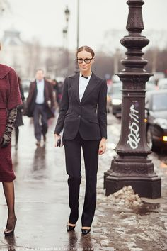 fall trends for women - borrowed from the boys | Suit