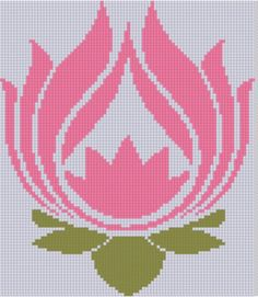 Lotus Flower Cross Stitch Pattern by MotherBeeDesigns on Etsy