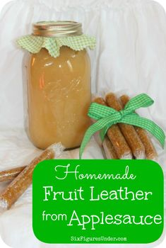 Step-by-step tutorial for making, packaging, and storing fruit leather with applesauce.  Use plain applesauce or add in berries for other flavors.
