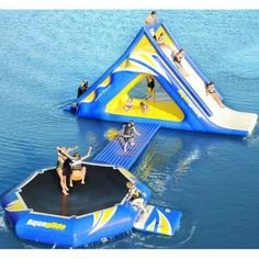 Awesome water blowup floating fun pad