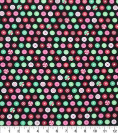 Keepsake Calico Holiday Cotton Fabric-Peppermints
