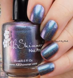 KBShimmer None of Your Bismuth | Be Happy And Buy Polish https://behappyandbuypolish.com/2017/02/21/kbshimmer-none-of-your-bismuth-hella-holo-customs-february-2016-swatch-review/