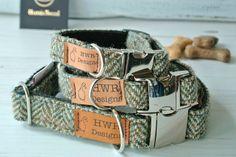 Harris Tweed Dog Collars, Tweed Dog collar, Brown Herringbone Tweed Dog Collar. Designer dog collar by HWRDesigns on Etsy https://www.etsy.com/listing/271236127/harris-tweed-dog-collars-tweed-dog