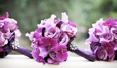 radiant orchid wedding bouquet flowers