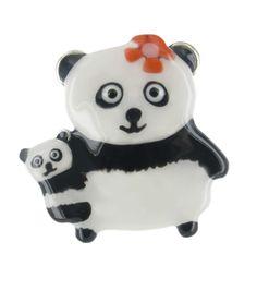 'BAMBOU' panda brooch