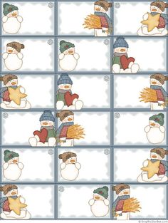 Snowmen: Free Printable Frames, Cards, Tags and Labels. More Snowmen: Free Printable Frames, Cards, Tags and Labels. Christmas Gift Wrapping, Christmas Gift Tags, Winter Christmas, Vintage Christmas, Xmas, Christmas Snowman, Merry Christmas, Printable Frames, Gift Tags Printable
