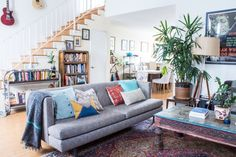 Elizabeth and Jeremy's Urban Jungle Townhome