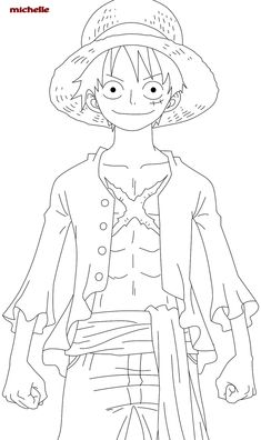 One Piece Luffy Coloring Pages Anime Coloring Desenhos One Piece Manga, One Piece Drawing, Anime Drawings Sketches, Manga Drawing, Manga Art, Naruto Sketch, Anime Sketch, Anime Lineart, Anime Chibi
