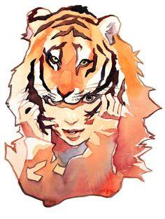 Tiger Hat Girl by taho.deviantart.com on @deviantART