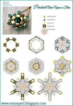 "FREE Pattern for Pendant ""Once Upon A Time"". Page 2/2. From MoonPerl."