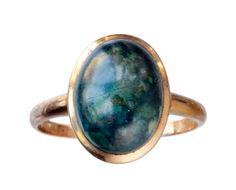 1910s Edwardian Sodalite Cabochon Ring
