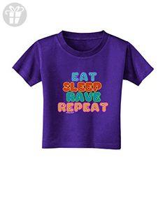 TooLoud Eat Sleep Rave Repeat Hypnotic Toddler T-Shirt Dark Purple - 4T (*Amazon Partner-Link)