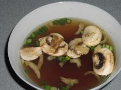 """Miyabi Japanese Onion Soup from Food.com:   I am trying to duplicate the clear broth soup that is served at """"Miyabi"""" - our local Japanese steakhouse. Our whole family loves this soup!"""