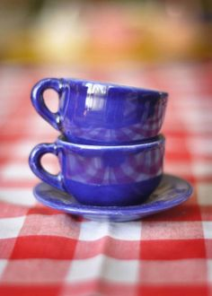 Two teacups... just waiting for friends to use them for a lovely cuppa tea !