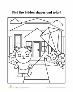 Your child can have fun finding the shapes in this set of worksheets that build early geometry skills. Preschool Games, Activities For Kids, Visual Perception Activities, Math Magic, Shape Pictures, Alphabet Games, Teaching Kindergarten, Teaching Ideas, 1st Grade Math