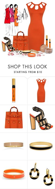 """Orange with cut out"" by whiteflower7 ❤ liked on Polyvore featuring Henri Bendel, Schutz, BillyTheTree, Halcyon Days, Kate Spade and Boots No7"