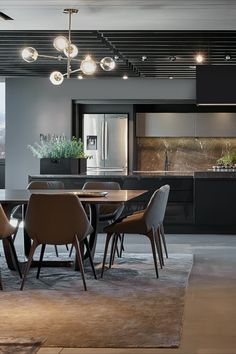 Dell Anno Kitchen, modern kitchen design for those who want both a minimalist kitchen and interesting details. A contrast of finishes to highlight the beauty of the lines. Dell Anno Kitchen is designed for the most exclusive environments.⠀ Contemporary House Plans, Contemporary Decor, Modern Decor, Loft House, House Rooms, Dream Home Design, House Design, Luxury Kitchens, Modern Kitchens