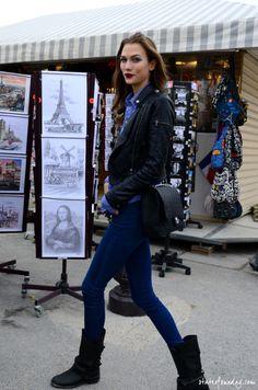 Model: Karlie Kloss- so gorgeous  -love the plum lips for fall