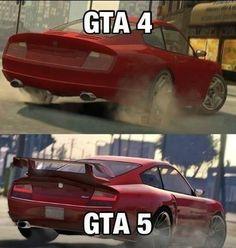 ¡La diferencia es impresionante! ¿Qué opinas? #gta #gta4 #gta5