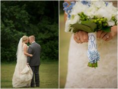 click on lovewedbliss.com and link and then scroll down to blue, white and green table flowers.