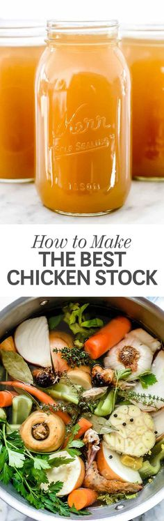 How to Make Homemade Chicken Stock and Broth on the stove top, in the Instant Pot pressure cooker or in a slow cooker | foodiecrush.com #chicken #stock #broth #recipes