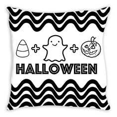 Halloween Coloring Pillow By Tinge & Hue