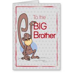 This Deals Congratulations to the Big Brother, Cute Monkey Greeting Card in each seller