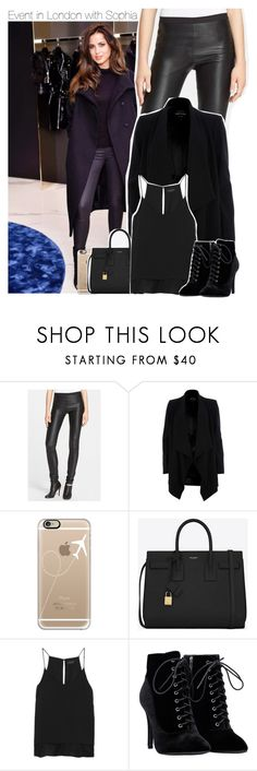 """""""Event in London with Sophia"""" by perfectharry ❤ liked on Polyvore featuring Rick Owens, River Island, Casetify, Yves Saint Laurent and rag & bone"""