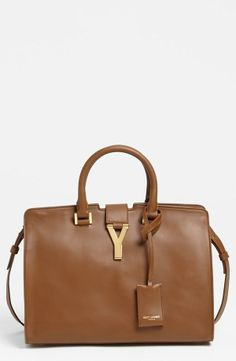 Sophistication at its finest - Leather Tote by Saint Laurent.
