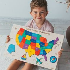 Kids World Map - Wooden toys , Montessori puzzle, Wooden world map, Educational toy