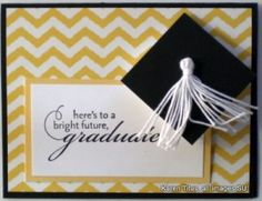 Stampin Up graduation card idea. Graduation Cap is a pop-up card. Tutorial on website on how to create this card. Graduation Cards Handmade, Graduation Diy, Graduation Invitations, Graduation Quotes, Graduation Announcements, Congratulations Card, Scrapbook Cards, Scrapbooking, Birthday Cards
