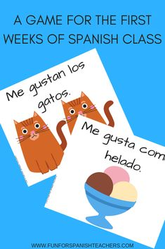 Fun game to get to know your students during the first weeks in Spanish class. This game will get everyone participating! Spanish Games For Kids, Preschool Spanish, Spanish Lessons For Kids, Spanish Basics, Spanish Teaching Resources, Elementary Spanish, Spanish Activities, Spanish Language Learning, Class Activities