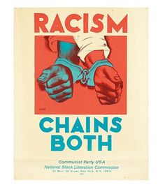 racism poster.   A poster from 1970 designed by Hugo Gellert