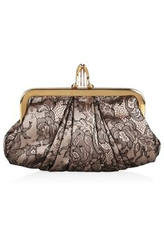Christian Louboutin | The Mini Loubi Lula lace and satin frame clutch | NET-A-PORTER.COM